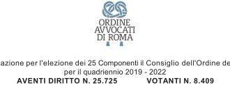 ELEZIONE DEL CONSIGLIO DELL'ORDINE DEGLI AVVOCATI DI ROMA
