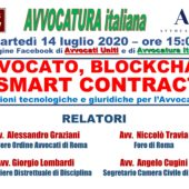 "Webinar 14/7/20: ""Avvocato, Blockchain & Smart Contracts"""