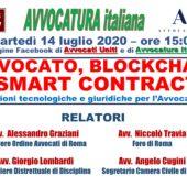 """Webinar 14/7/20: """"Avvocato, Blockchain & Smart Contracts"""""""